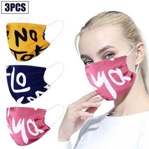 3pcs Reusable Mouth Face Mask Washable Facemask FS